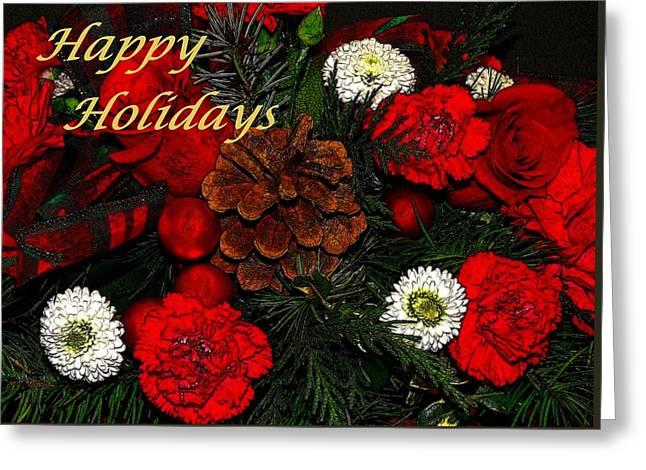 Christmas Card Greeting Card by Sandy Keeton