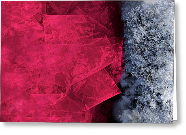 Christmas Frost Greeting Card by Christopher Gaston