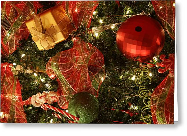 Christmas Ornaments Greeting Card by Lonnie Moore