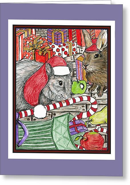 Christmas Treats Greeting Card by Marla Saville