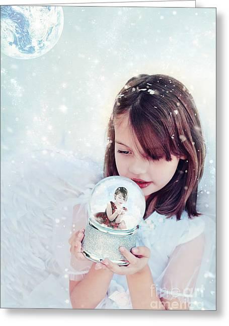 Christmas Wish Greeting Card by Stephanie Frey