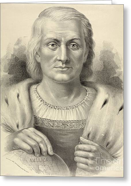 Christopher Columbus, Italian Explorer Greeting Card by Photo Researchers
