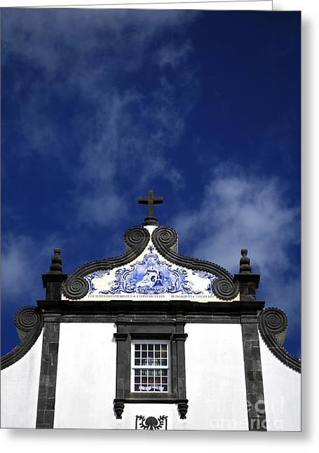 Church In Azores Islands Greeting Card by Gaspar Avila