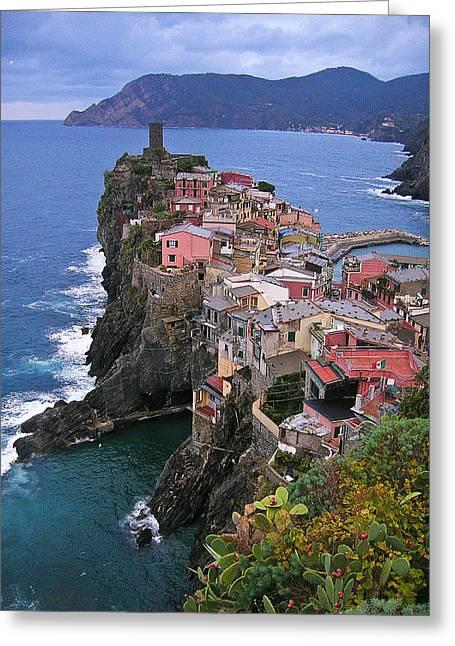 Cinque Terre Italy Fine Art Print Greeting Card by Ian Stevenson