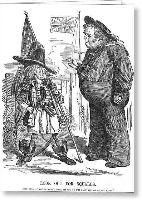 Civil War: Cartoon, 1861 Greeting Card by Granger