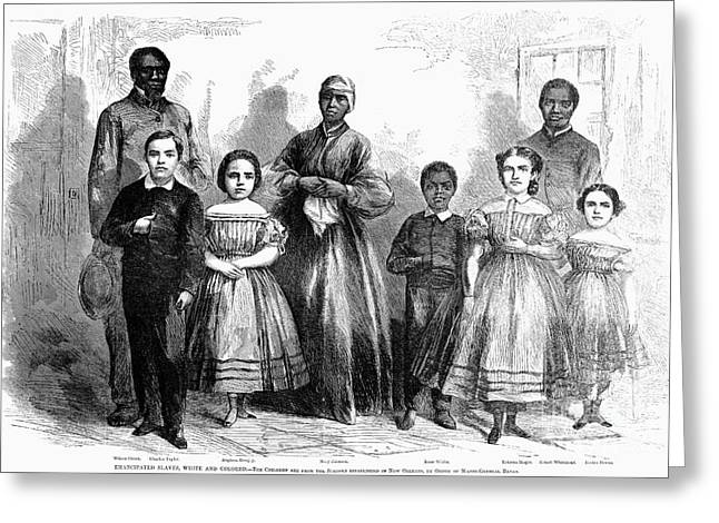 Civil War: Freed Slaves Greeting Card by Granger