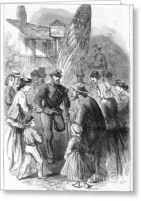Civil War: Veteran, 1867 Greeting Card by Granger