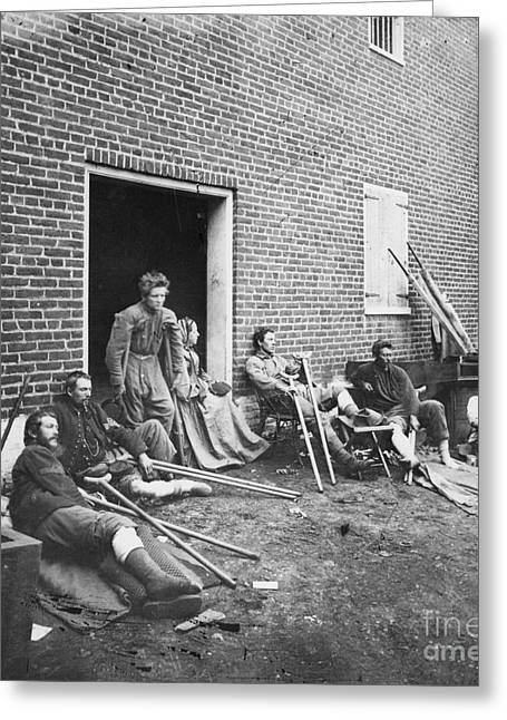 Civil War: Wounded, 1864 Greeting Card by Granger