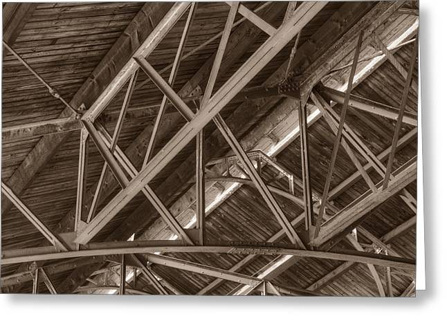 Greeting Card featuring the photograph Closeup Of Trusses by Dennis Dame