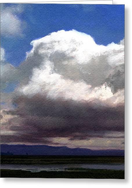 Cloud Towers Greeting Card