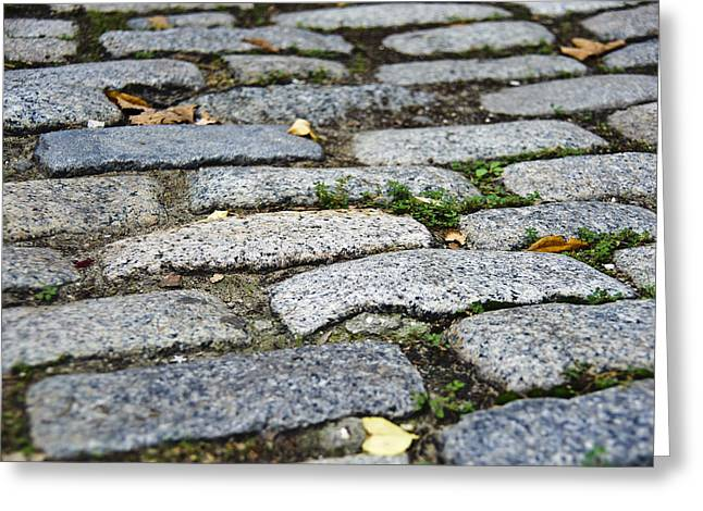 Cobblestone Greeting Card by Jen Morrison