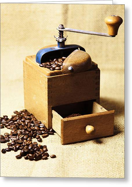 Coffee Mill Greeting Card