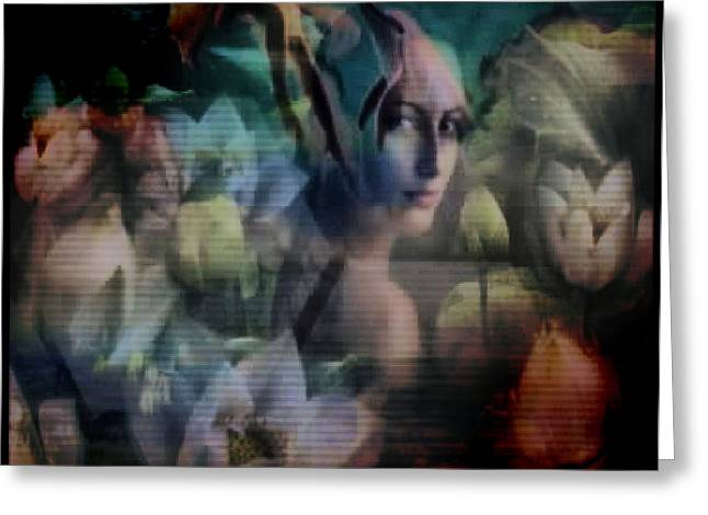 Greeting Card featuring the digital art Collage by Beto Machado
