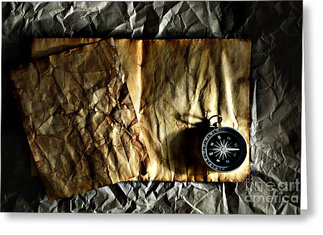 Compass Greeting Card by HD Connelly