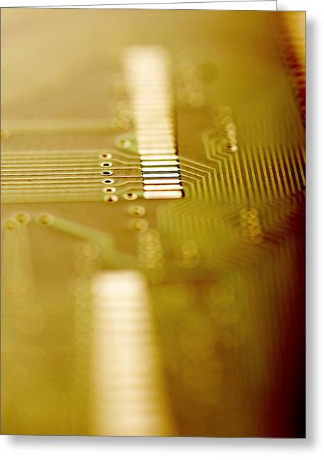 Computer Circuit Board Greeting Card by Tim Vernonlth Nhs Trust