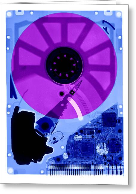 Computer Hard Drive Greeting Card by Ted Kinsman