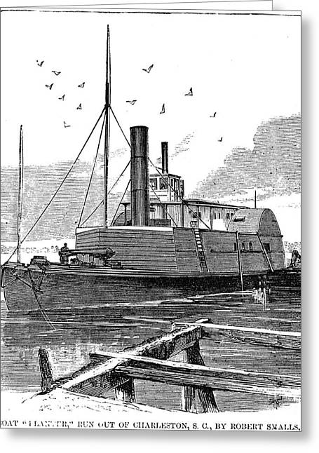 Confederate Ship, 1862 Greeting Card by Granger