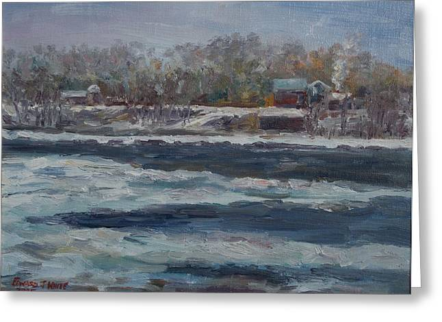 Connecticut River Thaw Greeting Card