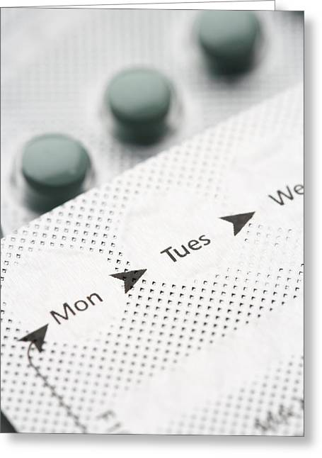 Contraceptive Pills Greeting Card by Jon Stokes