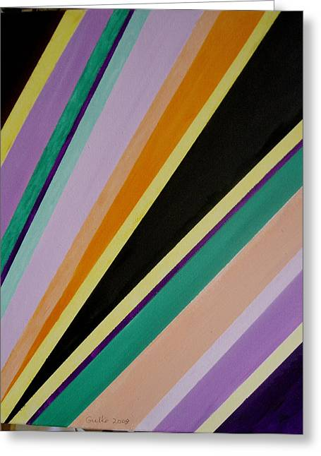Converging Triangles Greeting Card by Harris Gulko