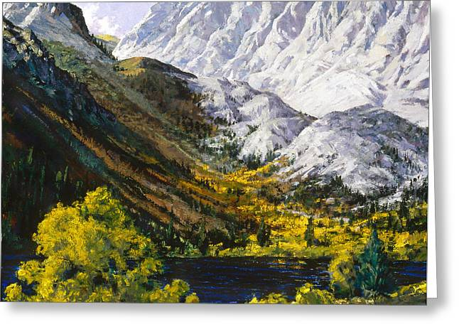 Convict Lake Greeting Card by Mark Lunde