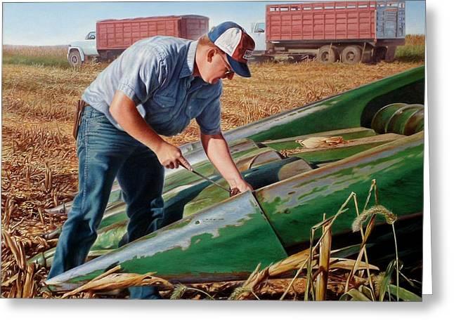 Corn Harvest Greeting Card by Hans Droog