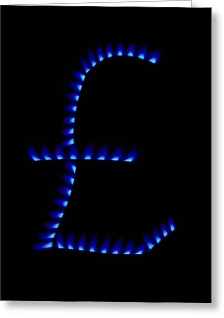 Cost Of Gas, Conceptual Image Greeting Card by Victor De Schwanberg