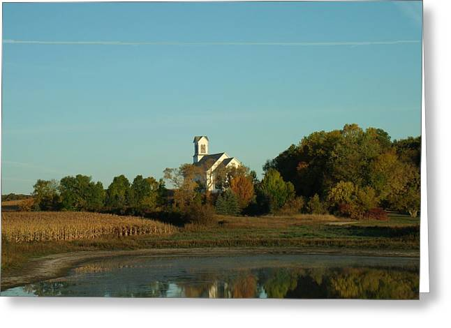 Country Church Dawn Greeting Card by Brian  Maloney