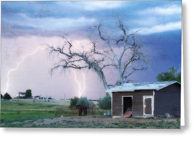 Country Lightning Ne Boulder County Co Fine Art Greeting Card by James BO  Insogna