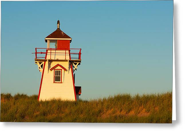 Cove Head Lighthouse Greeting Card by Matt Dobson