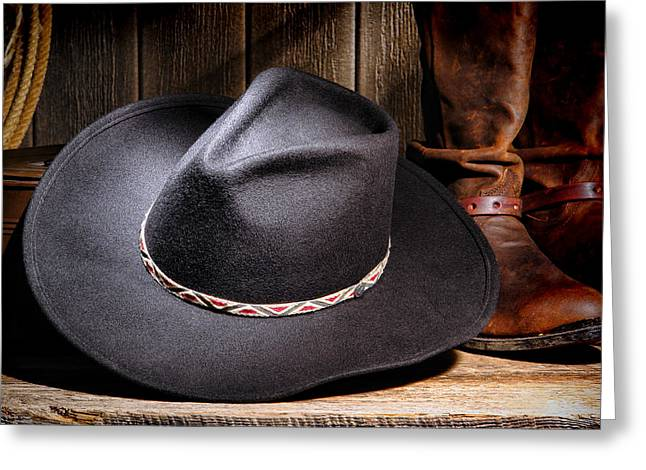 Cowboy Hat Greeting Card by Olivier Le Queinec