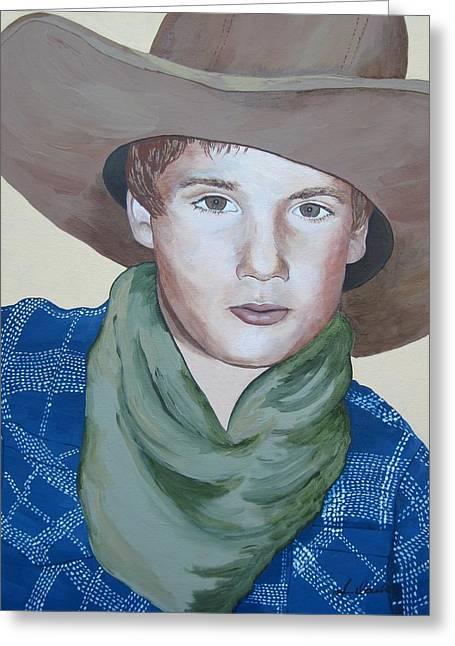 Cowboys Greeting Card by Jennifer  Donald