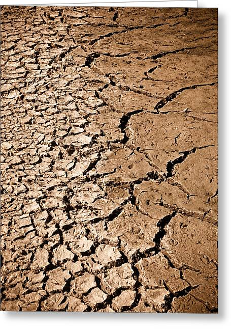 Cracked Ground Greeting Card
