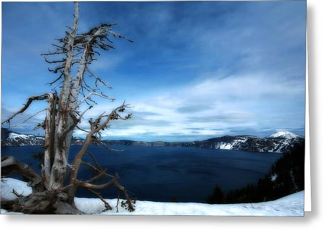 Crater Lake Greeting Card by Bonnie Bruno