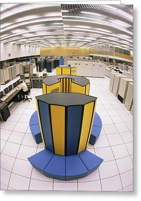 Cray X-mp/48 Supercomputer Greeting Card by David Parker