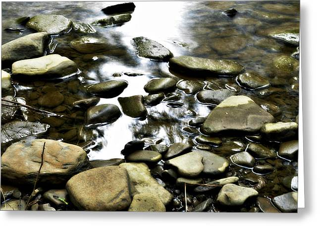 Creekstones Greeting Card by Mary Frances