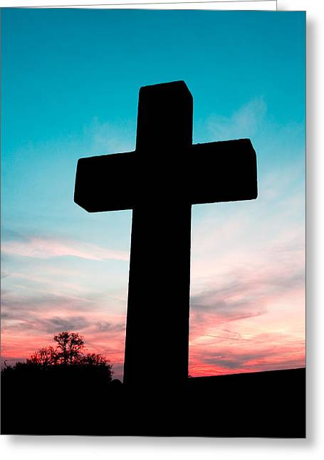 Cross  Greeting Card by Tom Gowanlock