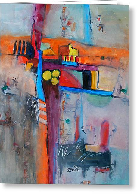 Crossroads Greeting Card by Ron Stephens