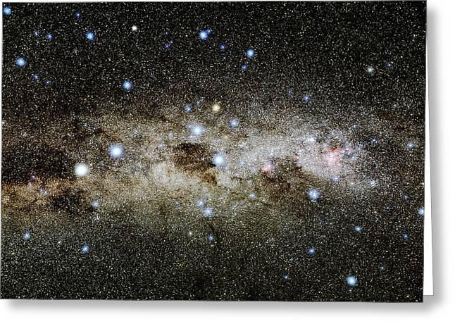 Crux Constellation Greeting Card by Eckhard Slawik