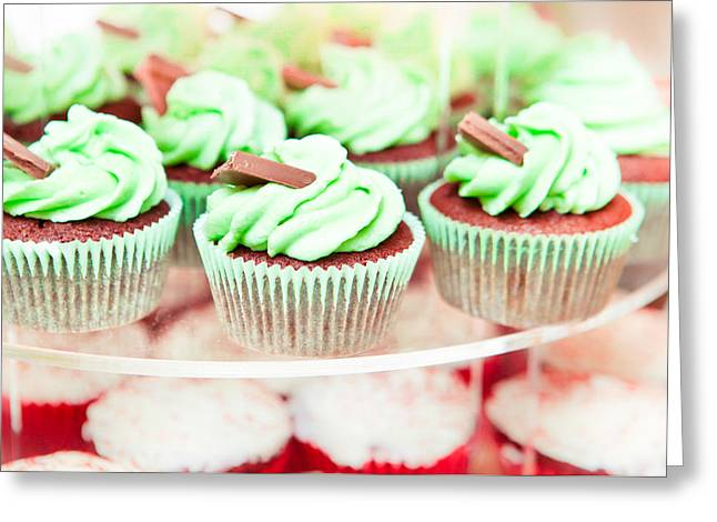 Cup Cakes Greeting Card by Tom Gowanlock
