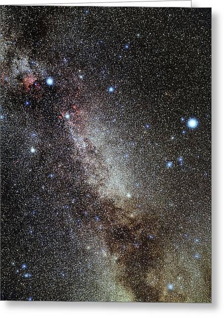 Cygnus And Lyra Constellations Greeting Card by Eckhard Slawik