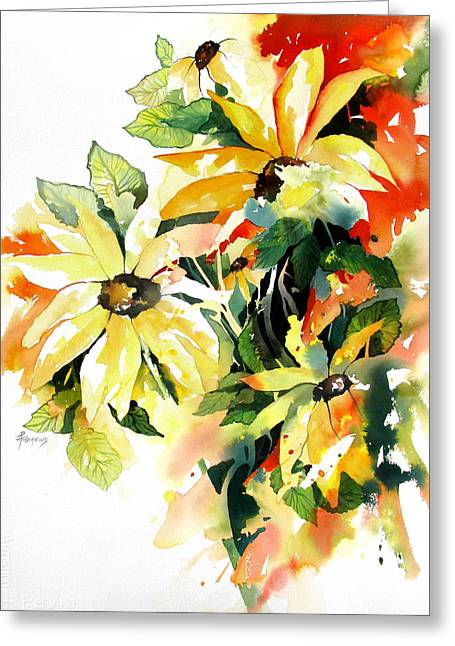 Daisy Extravaganza Greeting Card by Rae Andrews