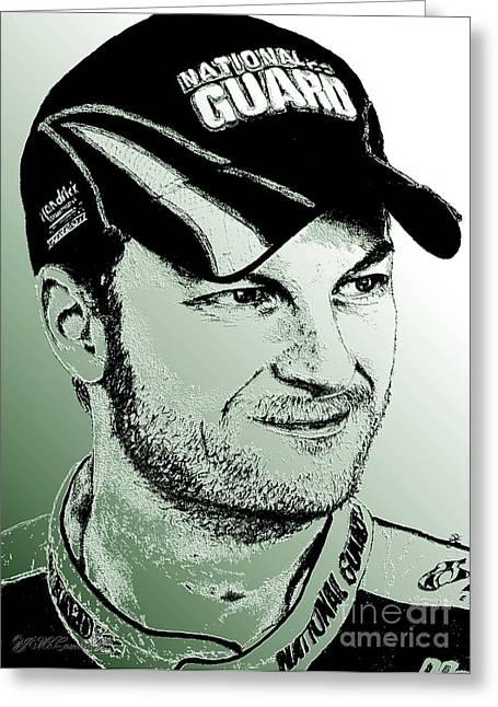 Dale Earnhardt Jr In 2009 Greeting Card