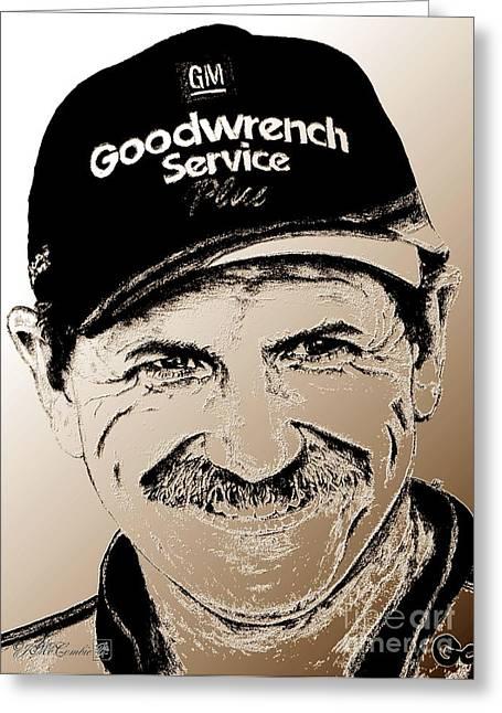 Dale Earnhardt Sr In 2001 Greeting Card by J McCombie