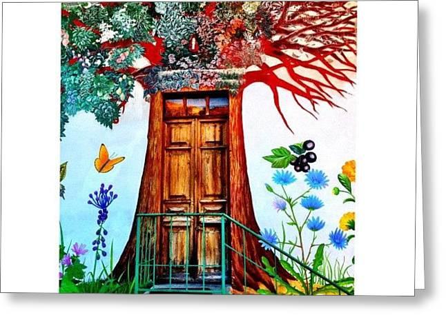 Damanhur Door Greeting Card