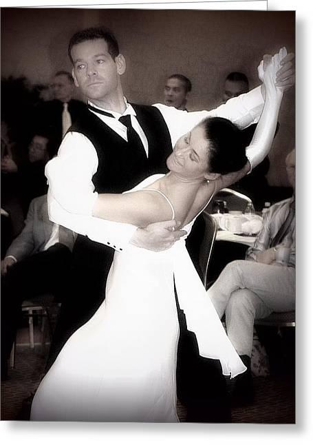 Dance With Me Greeting Card by Lori Seaman