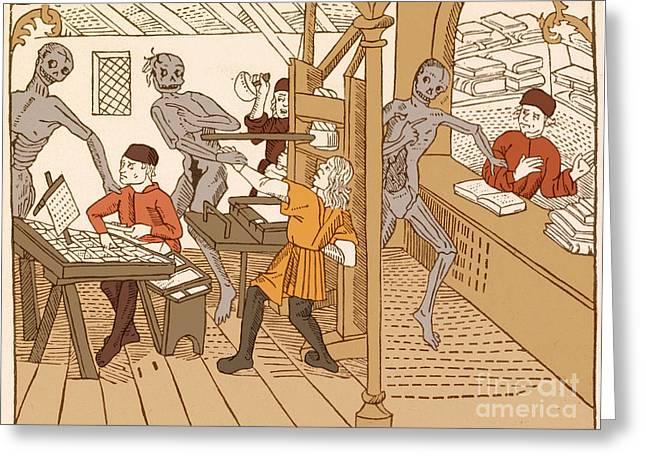 Danse Macabre, 1499 Greeting Card