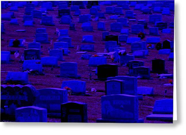 Dark Cemetery Greeting Card by Jose Lopez