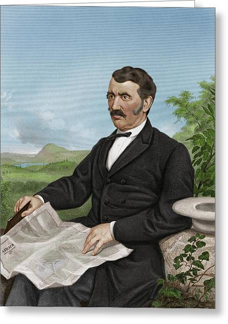 David Livingstone, Scottish Explorer Greeting Card by Maria Platt-evans