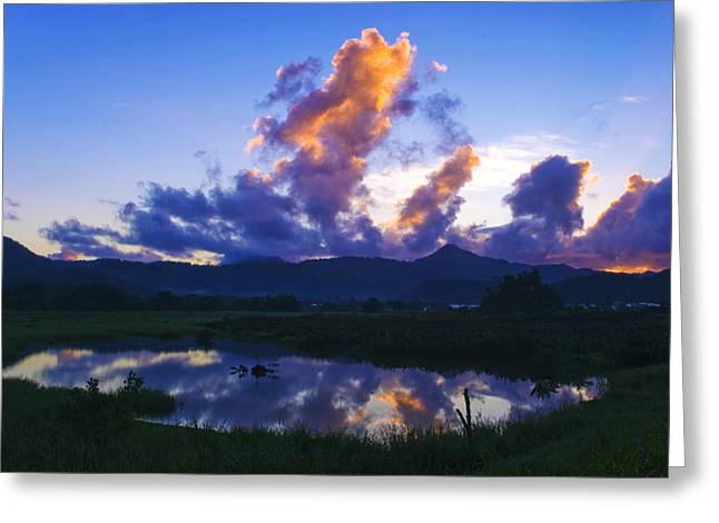 Greeting Card featuring the photograph Dawn-cul De Sac Valley- St Lucia by Chester Williams